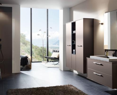 Bild zeigt ein elegantes Badezimmer
