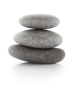 Bild: drei gestapelte Steine